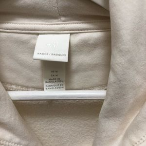 H&M Tops - H&M Basics Hooded Sweatshirt in Ivory Cream